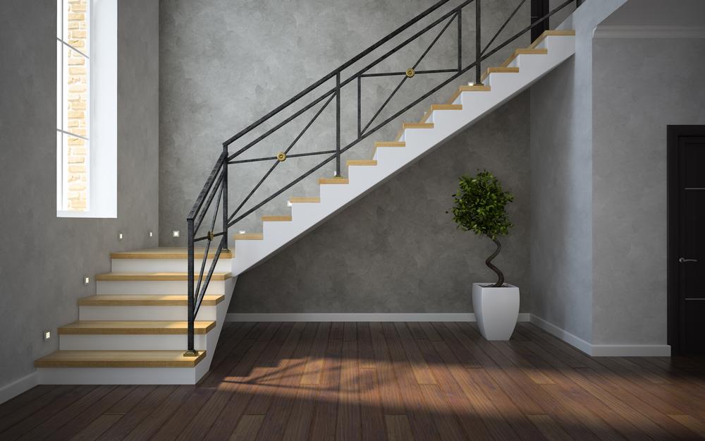 מעקה מדרגות פנים מודרני